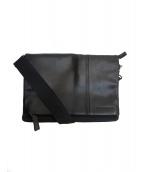 ck Calvin Klein(シーケーカルバンクライン)の古着「レザーショルダーバッグ」|ブラック