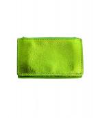 MM6(エムエムシックス)の古着「3つ折り財布」 黄緑