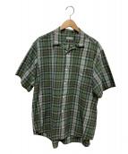 COMME des GARCONS HOMME(コムデギャルソンオム)の古着「チェックシャツ」|グリーン