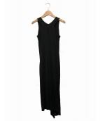 DKNY(ダナキャランニューヨーク)の古着「ドレープワンピ」|ブラック