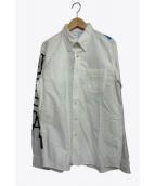 uniform experiment(ユニフォームエクスペリメント)の古着「GRAFFITI BD SHIRT」|ホワイト