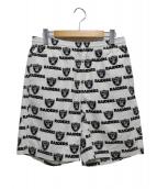 Supreme × NFL Raiders(シュプリーム × エヌエフエルレイダーズ)の古着「レイダーズツイルショーツ」|ホワイト