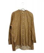 KAPTAIN SUNSHINE(キャプテン サンシャイン)の古着「バンドカラーシャツ」|ブラウン