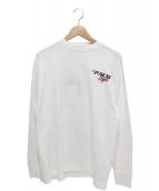 Palm Angels(パーム・エンジェルス)の古着「レーシングロゴティーL/S」|ホワイト