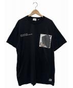 ()の古着「MONTAGE PRINT COTTON OVERSIZE 」|ブラック