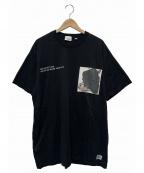 BURBERRY()の古着「MONTAGE PRINT COTTON OVERSIZE 」|ブラック