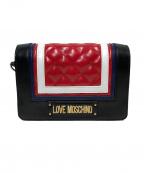LOVE MOSCHINO(ラブモスキーノ)の古着「キルティングショルダーバッグ」 ブラック