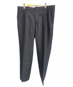 Lucien pellat-finet(ルシアンペラフィネ)の古着「カシミヤウールスカルスラックス」|ブラック