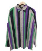 ISSEY MIYAKE MEN(イッセイ ミヤケ メン)の古着「ストライプシャツ」|パープル