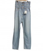 .efiLevol(エフィレボル)の古着「ハイウェストデニムパンツ」|ブルー