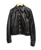 Hysteric Glamour(ヒステリックグラマ)の古着「ラムレザーコンパクトジャケット」|ブラック