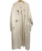 Hysteric Glamour(ヒステリックグラマ)の古着「WICKED ptラグランスリーブロングジャケット」|ホワイト