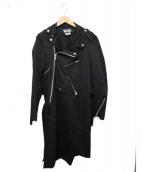 BLACK COMME des GARCONS(ブラックコムデギャルソン)の古着「ライダースコート」 ブラック