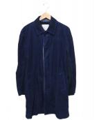 sacai(サカイ)の古着「切り替えコーデュロイコート」|ネイビー