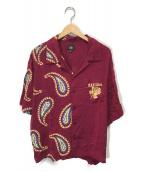 ()の古着「ハーフペイズリーアロハシャツ」|ボルドー