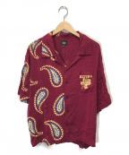 ELVIRA(エルビラ)の古着「ハーフペイズリーアロハシャツ」|ボルドー