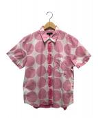 COMME des GARCONS HommePlus(コムデギャルソンオムプリュス)の古着「総柄半袖シャツ」|ピンク