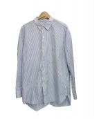 UNUSED(アンユーズド)の古着「ストライプシャツ」|スカイブルー