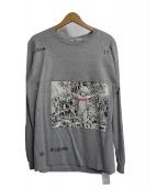FLAGSTUFF(フラッグスタッフ)の古着「Tシャツ」|グレー