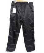 FLAGSTUFF(フラッグスタッフ)の古着「ストリートブラックパンツ」|ブラック