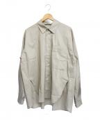 KIIT(キート)の古着「スイスコットンタイプライターシャツ」|ベージュ