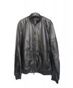 ARMANI EXCHANGE(アルマーニエクスチェンジ)の古着「シープレザージャケット」|ブラック