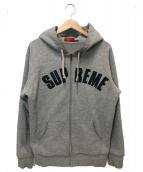 Supreme(シュプリーム)の古着「アーチロゴサーマルジップアップフーディー」|グレー