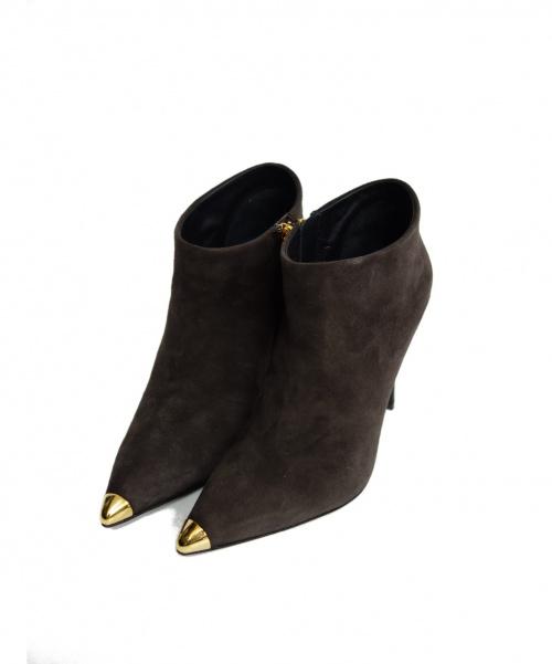 GIUSEPPE ZANOTTI(ジュゼッペ ザノッティ)GIUSEPPE ZANOTTI (ジュゼッペ ザノッティ) ブーツ ブラウン サイズ:35 1/2 未使用品 定価¥125000+TAX 7046CA105の古着・服飾アイテム
