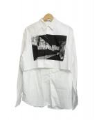 Hombre Nino(オンブレ・ニーニョ)の古着「スタッシュシャツ」 ホワイト