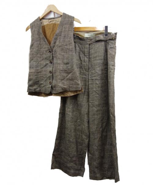 WRYHT(ライト)WRYHT (ライト) artisan sackセットアップ ブラウン サイズ:2 定価ベスト¥42120 パンツ¥45360の古着・服飾アイテム