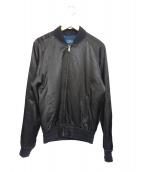 POLO RALPH LAUREN(ポロラルフローレン)の古着「サテン刺繍ブルゾン」|ブラック