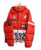 POLO RALPH LAUREN(ポロ・ラルフローレン)の古着「1992ウィンタースタジアムダウンジャケット」|レッド
