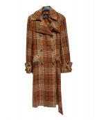 GRACE CONTINENTAL(グレースコンチネンタル)の古着「ビッグチェックコート」|ブラウン