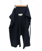 GANRYU(ガンリュウ)の古着「ラップサルエルパンツ」|ネイビー