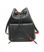 Calvin Klein(カルバンクライン)の古着「Kira Drawstring Bucket Bag」|ブラック