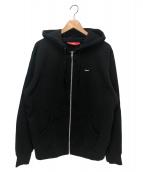 Supreme(シュプリーム)の古着「スモールボックスジップアップスウェットシャツ」|ブラック
