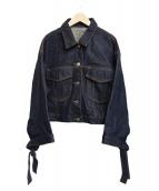 FRAY ID(フレイアイディー)の古着「オーバーサイズデニムジャケット」|インディゴ