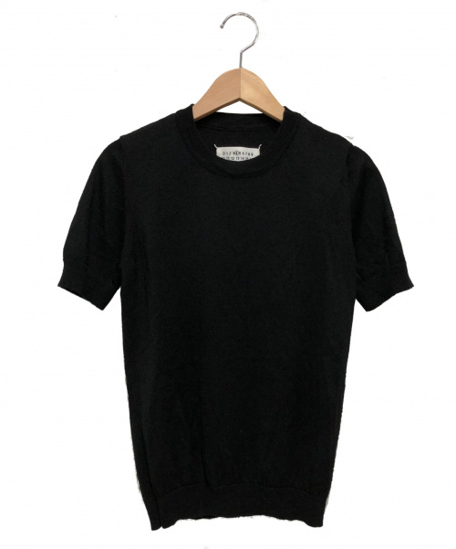 Martin Margiela 4(マルタンマルジェラ4)Martin Margiela 4 (マルタンマルジェラ4) 半袖ニット ブラック サイズ:S S51HA0670 2016AWの古着・服飾アイテム