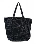 Supreme(シュプリーム)の古着「ゴンズマップデニムトートバッグ」 ブラック