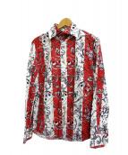 Vivienne Westwood man(ヴィヴィアンウエストウッドマン)の古着「総柄シャツ」|レッド