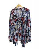 Vivienne Westwood man(ヴィヴィアンウエストウッドマン)の古着「総柄シャツ」|スカイブルー