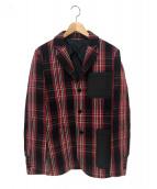 MARNI(マルニ)の古着「ニット切替テーラードジャケット」 レッド