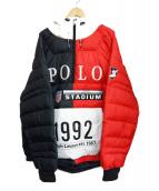 POLO RALPH LAUREN(ポロ・ラルフローレン)の古着「カラーブロックジャケット」|レッド