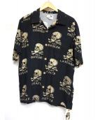 GANGSTERVILLE(ギャングスタビル)の古着「オープンカラーシャツ」|ブラック