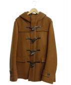 LITHIUM HOMME(リチウム オム)の古着「メルトンショートダッフルコート」|ブラウン