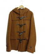 LITHIUM HOMME(リチウムオム・ファム)の古着「メルトンショートダッフルコート」|ブラウン