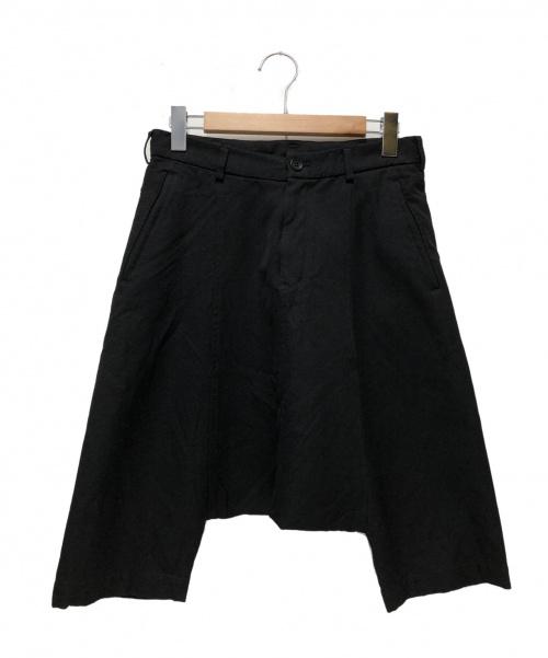 BLACK COMME des GARCONS(ブラックコムデギャルソン)BLACK COMME des GARCONS (ブラックコムデギャルソン) サルエルハーフパンツ ブラック サイズ:XS 1G-P010 2011SSの古着・服飾アイテム