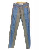 LOEWE(ロエベ)の古着「切替パンツ」|ブルー
