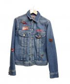 Hysteric Glamour(ヒステリックグラマ)の古着「USED加工デニムジャケット」|インディゴ