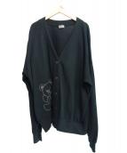 Hysteric Glamour(ヒステリックグラマー)の古着「HYS BEAR刺繍カーディガン」|ブラック